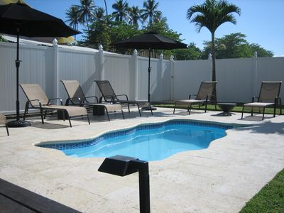 Spa Pool With Massage Jets / Coralina Tile / Outdoor Shower