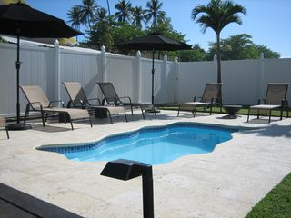 Spa Pool With Massage Jets / Coralina Tile / Outdoor Shower - Rincon villa vacation rental photo