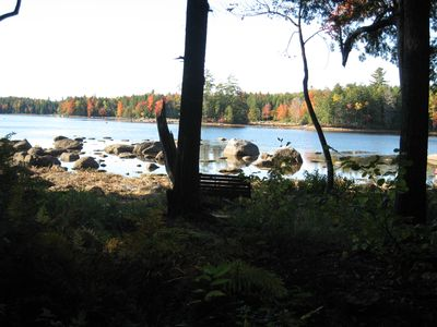 The lake in autumn (the lake is 2-3 ft lower in the fall than in summer)