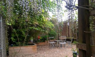 Greenwich apartment photo - Your own private suntrap garden to relax in after a long day touring London