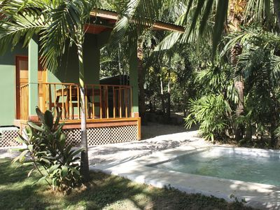 Nice bungalow with private pool and garden vrbo for Garden pool bungalow