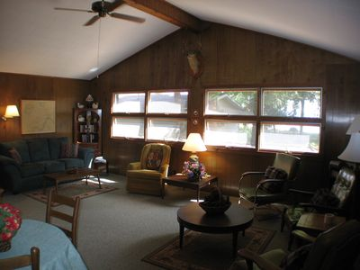 Another angle of family room- windows toward water