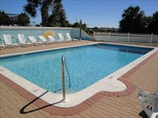 El Centro Beach house photo - Community Pool with view of Pier Park in the background. It's that close!