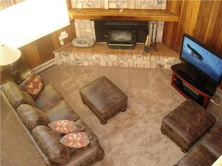 Taos Ski Valley condo photo - View from loft down to living area