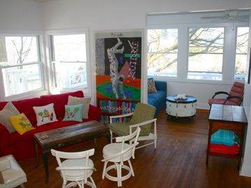 Michigan City house rental - Great, open floor plan with views of the lake throughout the house