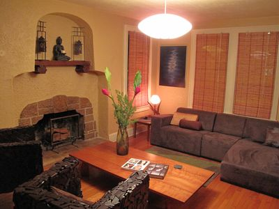 Living Room is a warm and cozy retreat in the evenings