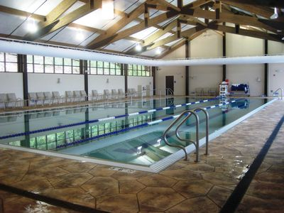 Beautiful Indoor Pool open year round at Galena Territory Owners Club