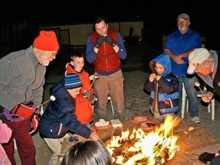 Squaw Valley - Olympic Valley condo photo - Making Smores on the Firepit at the Red Wolf Lodge at Squaw Valley