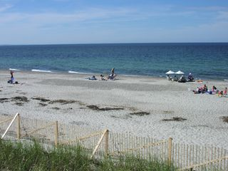 East Sandwich house photo - One section of private beach as you stand at the top of the boardwalk