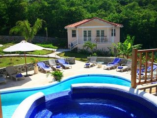 Cap Estate villa photo - Cottage/Pool View from Jacuzzi Hot Tub
