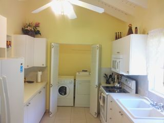 St. Croix house photo - Kitchen with adjoining laundry.