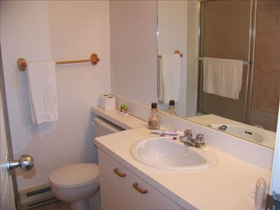 Main bathroom off hall and accessible from 2nd bedroom.