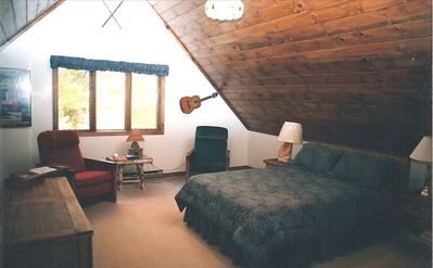 Master Bedroom--Warm and Spacious with its own Bath and Double Whirlpool