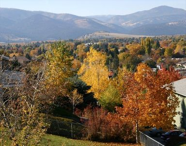 View off the back deck of the house - fall, 2008