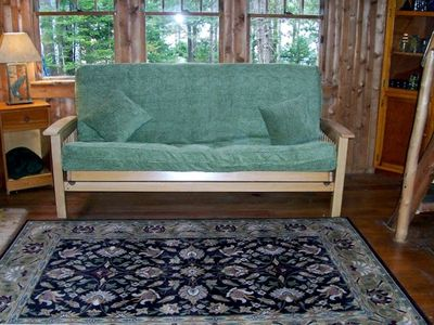 pull out double futon sleeps 2 more