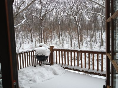 Apple River cabin rental - Winter View