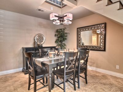 Conversation-Filled Gatherings with Family & Friends in the Spacious Dining Room