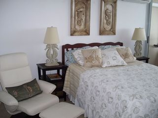Luquillo condo photo - Seahorse Bedroom with ocean view Balcony and Queensize bed