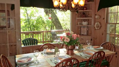Highlands cottage rental - The view from the dining room....