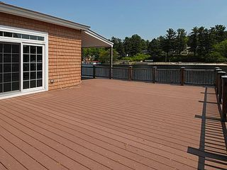Alton Bay condo photo - Private waterfront deck
