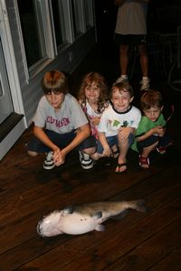Grayson's catfish, caught right off the dock