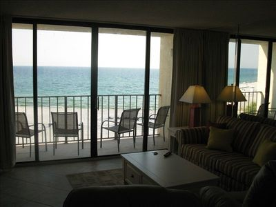 Best of Views from 4th floor...see beach and gulf while sitting on sofa!