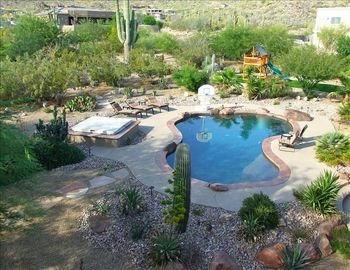 Apache Junction house rental - Enjoy resort living in the privacy of your own 1.5 acre backyard desert oasis.