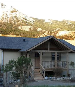 Exterior view - with Yellowstone River driftwood railing