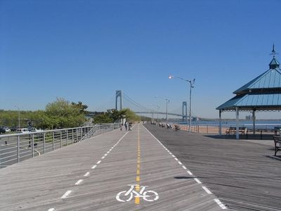 Staten Island house rental - Ocean beach and promenade across the street