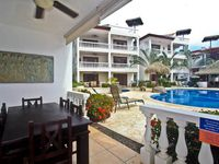 Ground floor 2 bed/2bath condo with a view of the pool