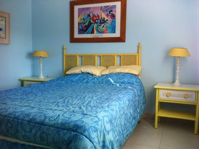 Treasure Cay townhome rental - Master Bedroom with queen sized bed