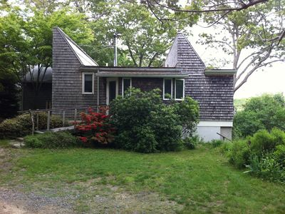 Vineyard Haven house rental - Front of House. Solar collectors on roof.