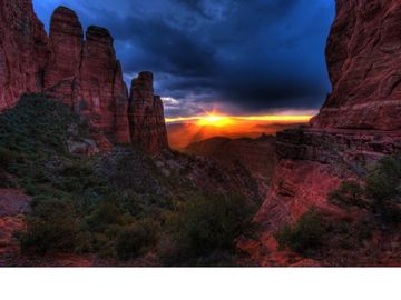 Sedona at twilight; one of the most breathtaking sights in the world