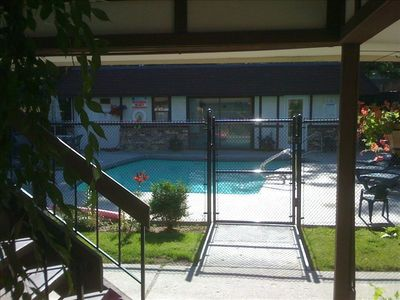 Outdoor pool just 10' from your front door