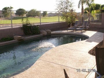 Avondale house rental - Backyard pool and 10th fairway