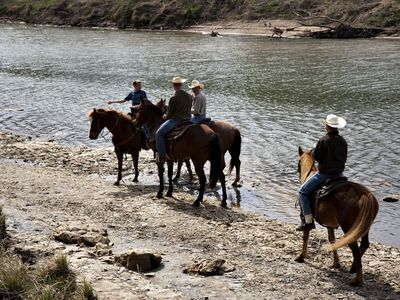 Trail riding along Brazos River