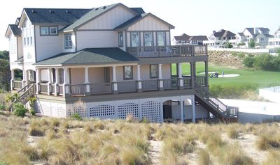 Corolla house rental - Side of House Overlooking 12th Fairway