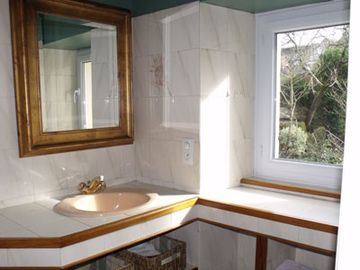 Full Bathroom–This is off the second bedroom with the 2 twin beds