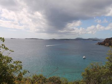 Sweeping views of the Caribbean Sea and St. Thomas island from Tre Scalini!