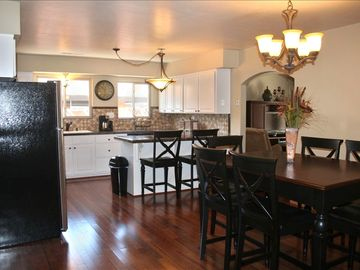 Flagstaff house rental - Beautiful wood floors in the kitchen/dining room.