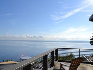 Bainbridge Island house photo - awaken to this view from the master bedroom deck