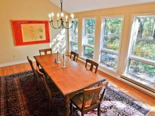 Chilmark house photo - Formal Dining Room Has Vaulted Ceiling & Wall Of Windows