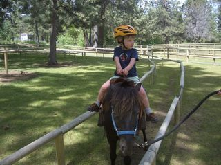 Bend condo photo - Pony ride. Also, trail rides available in summer