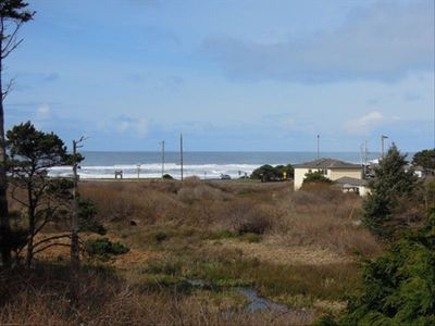 View of Ocean, Beach, and Estuary from Upper Deck.