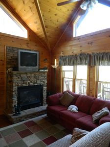 Living Room with Gas Fireplace& Sleeper Sofa