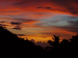 Marigot Bay apartment photo - A Tropical, Fiery Sky