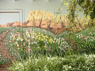 Sedona cottage photo - Backyard mural painted by local artists