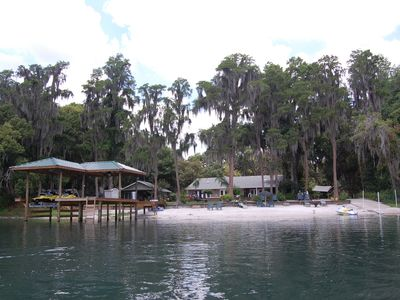 Tampa house rental - Beach view from the Lake complete with boat ramp