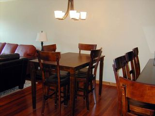 Canmore condo photo - Counter-height solid wood dining set