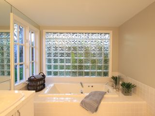 Malibu house photo - Spa like bathroom with jacuzzi tub and separate shower.